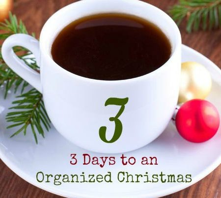 3 Days to an Organized Christmas Challenge