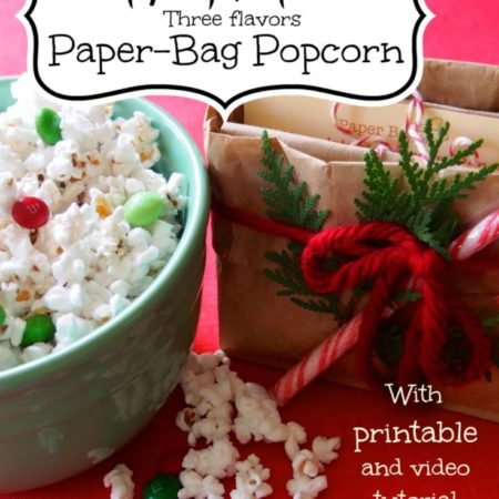 """Rule of One"" Gift Idea: Paper-Bag Popcorn (with Printable)"