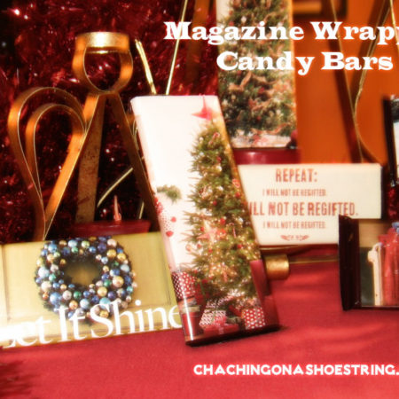 Rule of One Gift Idea: Magazine Wrapped Candy Bars