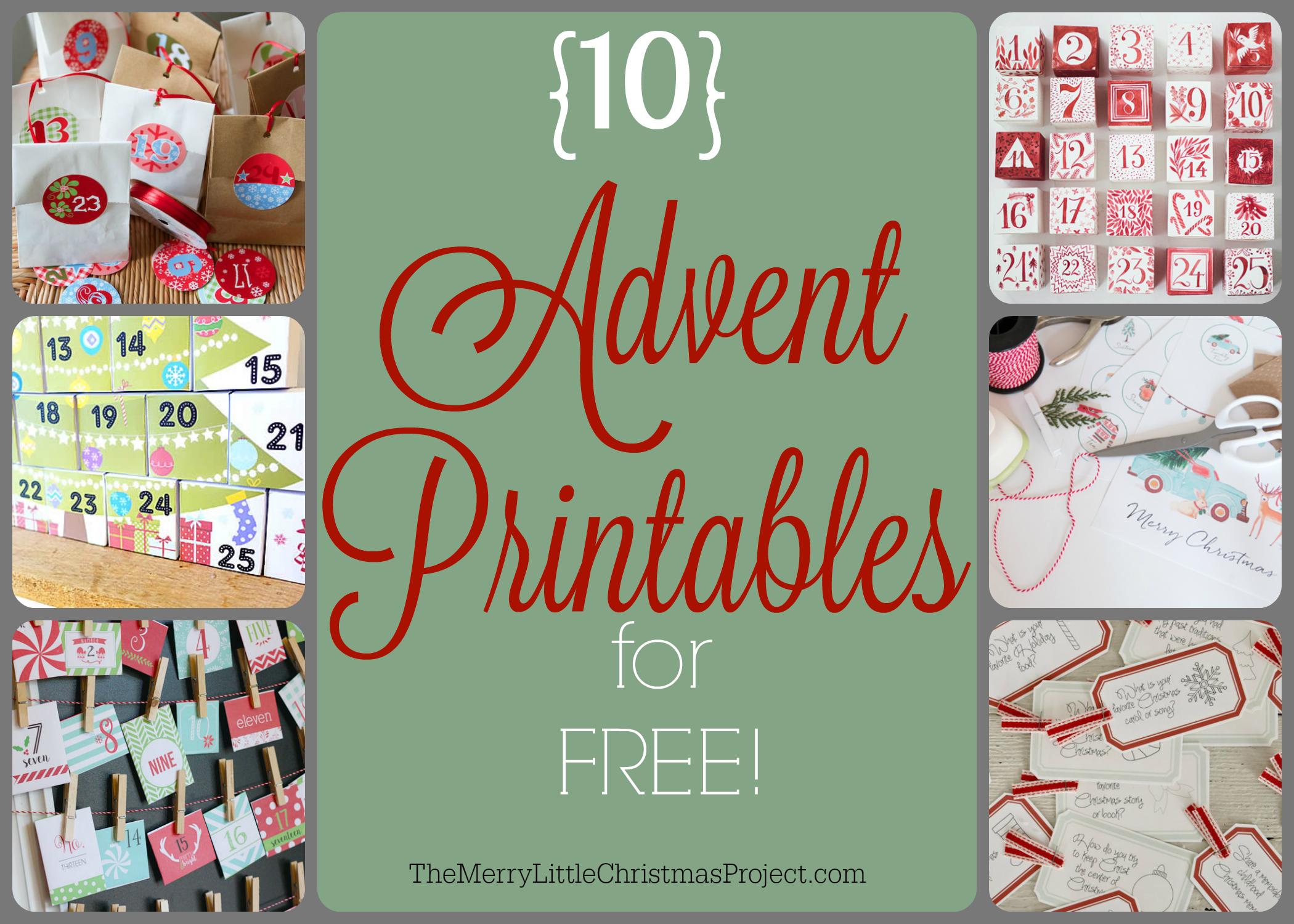 10 Fun Creative Advent Printables For Free Kaley Ehret