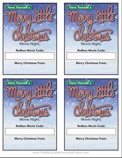 Redbox Gift Code free printable