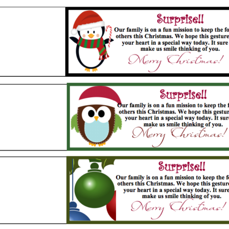 Free Printable Random Act of Christmas Kindness Tags #RACKWEEK