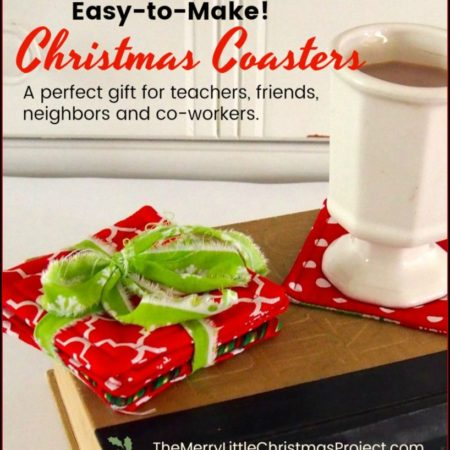 Rule of One Gift Idea: Easy-to-Make Christmas Coasters