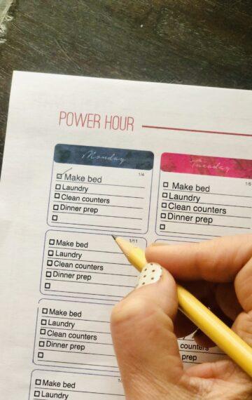 Power Hour Printable Master Planner